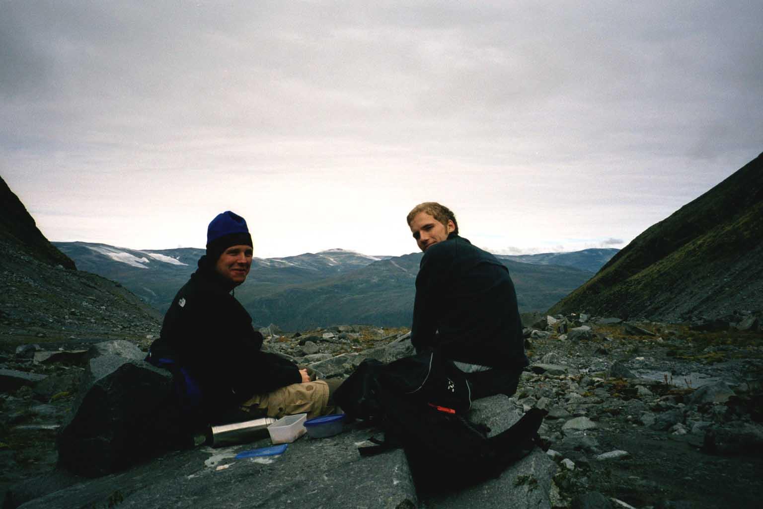Stefan and Mickael at the glacier port, Norway 2002